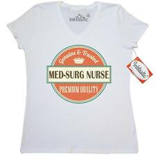 Inktastic Med-Surg Nurse Funny Gift Idea Women's V-Neck T-Shirt Med-surg Retired