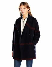 Tommy Hilfiger Women's Double Breasted OverSZd Plaid Wool Coat