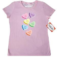 Inktastic Anti Valentines Day Candy Hearts Women's T-Shirt Conversation Mean