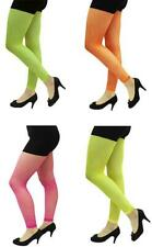 Fancy Dress Fun Run Retro Neon Fishnet Footless Tights Rave 80's Party Madonna