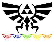 "Zelda Hyrule Triforce Vinyl Sticker Car Window Bumper Decal ALL COLORS— 2.5""-18"""
