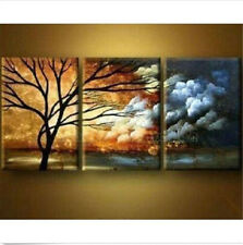 Wall Art Painting With Framed 3PC Modern Abstract Art Oil Painting Home Decor