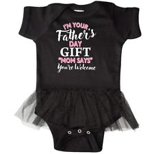 Inktastic Im Your Fathers Day Gift Mom Says Youre Welcome Infant Tutu Bodysuit