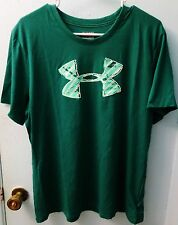 UNDER ARMOUR HEAT GEAR WOMENS SHORT SLEEVE LOOSE GREEN T-SHIRT NEW WITH TAGS