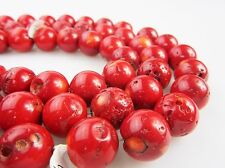 Smooth Round Red Bamboo Coral Round Loose Beads 15.5'' Long Per Strand Size 16mm