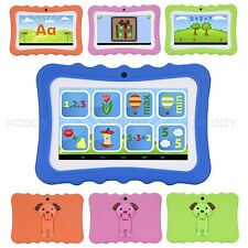 7'' Android 4.4 KitKat Quad Core Tablet PC WIFI Dual Camera Kids Children 8GB HD