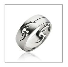 Tribal Carved Stainless Steel Fashion Engagement Wedding Band Ring Sz 9-12