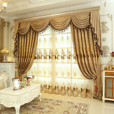 "62"" Luxury velvet Waterfall and Swag Valance curtains with triple valance track"