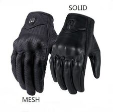 HOT Leather Gloves Bike Racing Gloves Motorcycle Riding Protective Armor Short