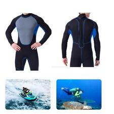 Men Full Body Wetsuit Anti-UV Surfing Scuba Diving Zip Suit Snorkeling Swimwear