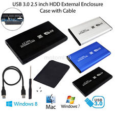 "USB3.0 SATA 2.5""External Hard Drive HDD Mobile Disk Enclosure Case Box+Cable new"