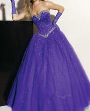 Long Beaded Formal Quinceanera Prom Evening Party Pageant Dress Bridal Ball Gown