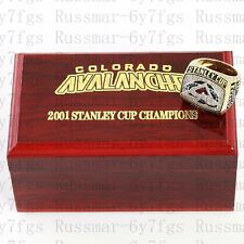 2001 Colorado Avalanche Stanley Cup Championship Copper Ring Size 10-13 Solid