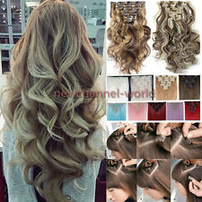 Lady Natural Thick Clip in Hair Extensions Full Head Long As Human Hair Striaght