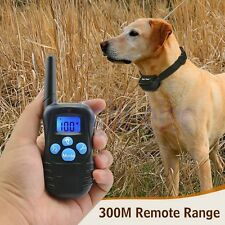 Dog Training Collar Waterproof Rechargeable LCD Electric Remote Shock Collar DG