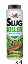 4 x Doff Slug Snail Killer Blue Mini Pellets 350g Garden Plants Greenhouse Patio