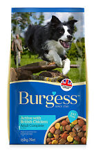 Burgess Supadog Active Chicken And Beef 15kg Dry Adult Dog Food Kibble Damaged