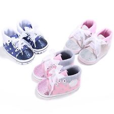 Baby Boys Girls Toddler Canvas Non-slip Soft Sole Crib Shoes Sneakers 0-18M