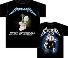 Metallica: Metal Up Your Ass Non-Distressed T-Shirt  Free Shipping