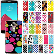 For LG G4 H815 F500 VS986 H810 Dots Design Protector Hard Back Case Cover Skin