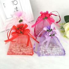 10pcs Organza Gift Tulip Flower Candy Pouch Bags Wedding Party Favor Decor