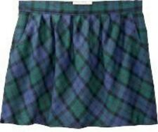 NWT Ladies PLAID SKIRT Old Navy Tartan Mini SIZE 4,6,12 BLUE/GREEN w/Pockets