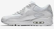 Nike AIR MAX-90 ESSENTIAL MEN'S SHOES Leather Upper WHITE- Size US 6, 7, 8 Or 9