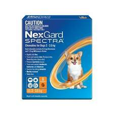Nexgard Spectra Very Small Orange for dogs from 2.3-5kg 3 & 6 Packs