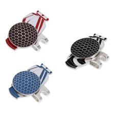 Golf Bag Alloy Golf Ball Marker with Magnetic Hat Clip 3 Colors
