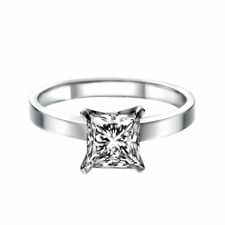 Solitaire Diamond Ring 14K White Gold Certified Promise Band 1.29 CTW D SI1 Ring