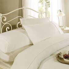 1000TC 100% EGYPTIAN COTTON IVORY STRIPE BEDDING ITEMS CHOOSE SIZE & BEDDINGS