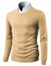 H2H Mens Casual Slim Fit Pullover Long Sleeve Basic Sweater - Choose SZ/Color