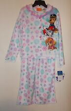 Girls Size 4/5, 6/6X Or 7/8 Nickelodeon Paw Patrol 2-Piece Flannel Pajama Set