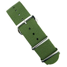 B & R Bands Olive Premium Nylon Military Style Watch Band Strap 18mm 20mm 22mm