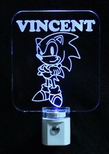 Personalized Sonic the Hedgehog, LED Night Light, Kids Lamp-