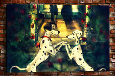 Home Decor Art wall Cartoon spotted dog Oil Painting Giclee HD Print on Canvas