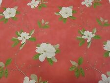 Sanderson Sweet Bay Floral Red/Green 100% Cotton Curtain & Upholstery Fabric