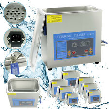 DIGITAL ULTRASONIC CLEANER ULTRA SONIC BATH CLEANING STAINLESS TANK TIMER HEATE