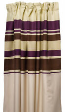 Purple Striped Fully Lined Pair of Curtains Ready Made Pencil Pleat Home Décor