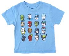 Marvel Comics Avengers Baby Blue Heroes T-Shirt Sizes 18 Months, 3T NWT