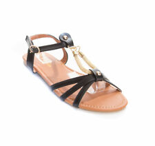 New Soho Shoes Women's Ankle Strap Gladiator Flat Flip Flop Sandal