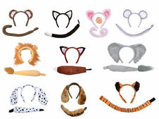 #Child Monkey Dog Pig Mouse Fox Lion Animal Sets Disguises Ears Tail Fancy Dress