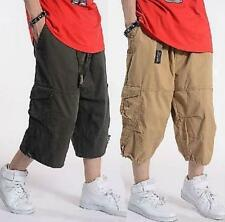 Mens Cargo Baggy Overalls Harem pants shorts Sweatpants Trousers Loose Fit Chic