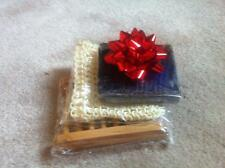 HANDMADE SOAP GIFT SET-  DISH + SOAP & SISAL POUCH - BIRTHDAY  MOTHER DAY GIFT