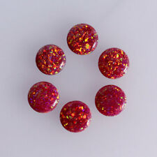 8MM Round Shape Fire Opal Cabochons, Sparkling Calibrated Cabochons AG-259