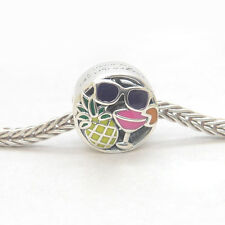 New Authentic Genuine S925 Sterling Silver Summer Fun Mixed Enamels Charm