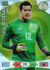 PANINI ROAD TO FIFA WORLD CUP BRAZIL 2014 - BRAZIL - Single Cards or Set