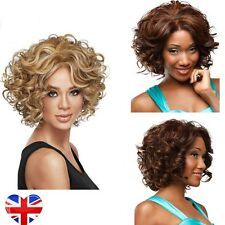 Women's Afro Short Curly Wavy Color Lace Front Wig Full Hair Wigs Synthetic Hair