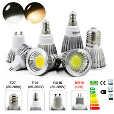 8/4X Dimmable E27 E14 MR16 GU10 9/12/15W Downlight Bulbs LED COB Spotlight Lamp