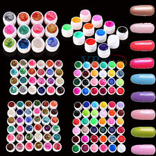 3/12/24/36Pc Colorful Solid UV Gel Builder Polish Nail Art Tips Acrylic